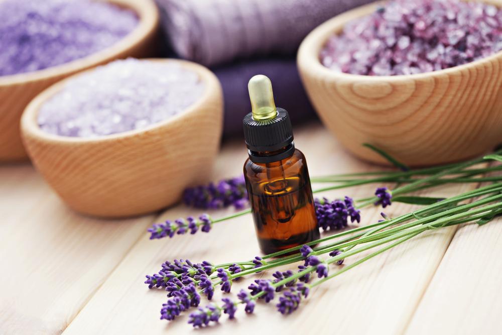 Lavendel en zout